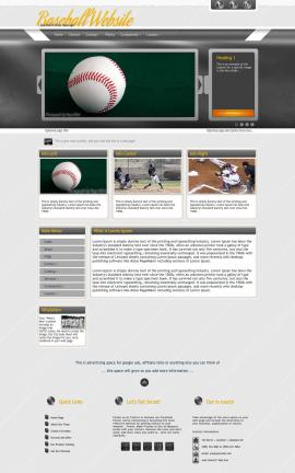 Paramount Baseball Website Template