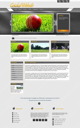 Paramount Cricket Website Template