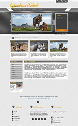 Paramount Equestrian Website Template
