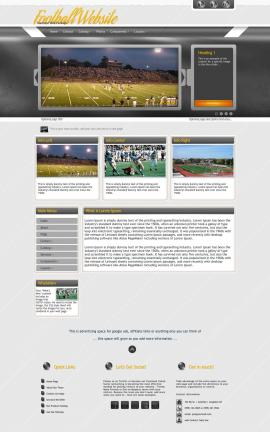 Paramount Football Website Template