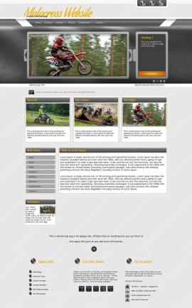 Paramount Motocross Website Template