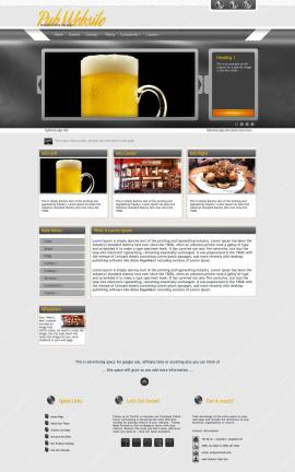Paramount Pub Website Template