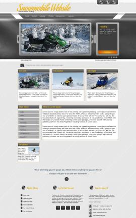 Paramount Snowmobile Website Template