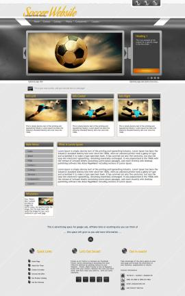 Paramount Soccer Website Template