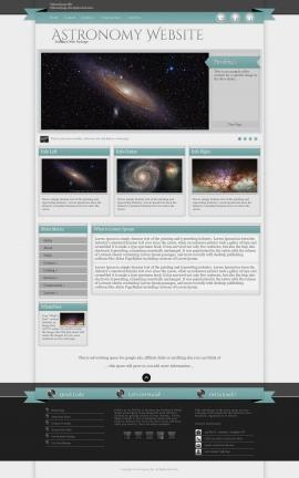 Strength Astronomy Website Template