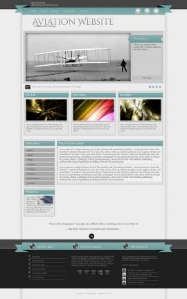 Strength Aviation Dreamweaver Template