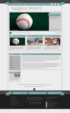 Strength Baseball Website Template