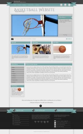 Strength Basketball Website Template