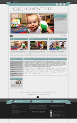 Strength Child-care Website Template