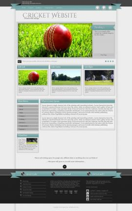 Strength Cricket Website Template