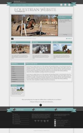 Strength Equestrian Website Template
