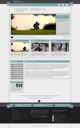 Strength Fishing Website Template