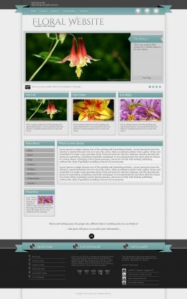 Strength Floral Website Template
