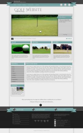 Strength Golf Website Template
