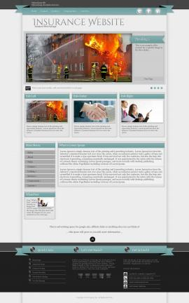 Strength Insurance Website Template