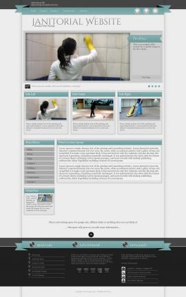 Strength Janitorial Website Template