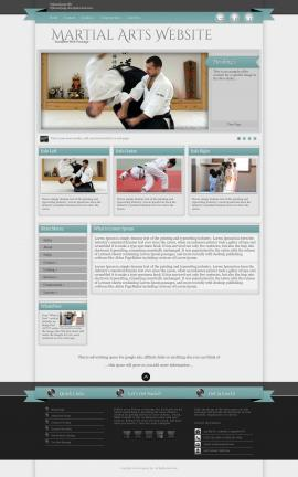 Strength Martial-arts Website Template