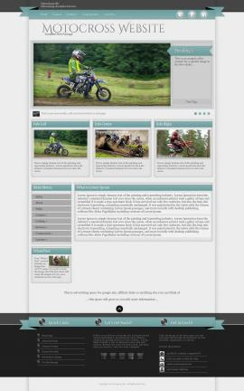 Strength Motocross Website Template