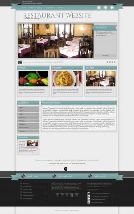 Strength Restaurant Website Template