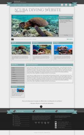 Strength Scuba-diving Website Template