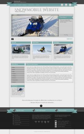 Strength Snowmobile Website Template