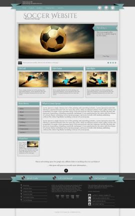 Strength Soccer Website Template