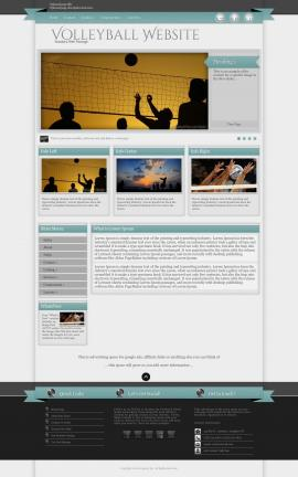 Strength Volleyball Website Template