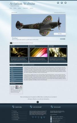 Virtue Aviation Dreamweaver Template