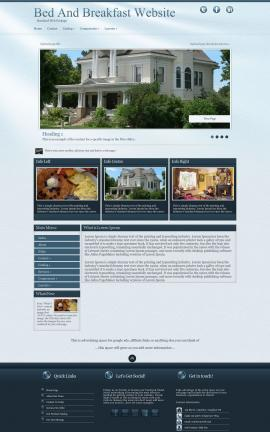 Virtue Bed-and-breakfast Website Template