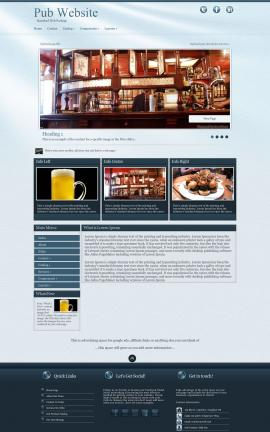 Virtue Pub Website Template