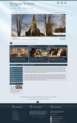 Virtue Religion Web Template