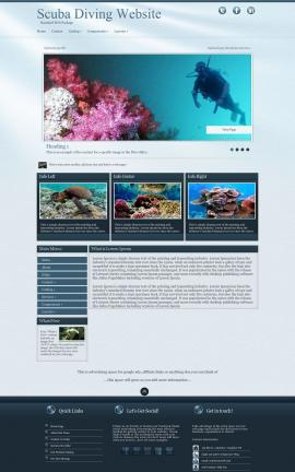 Virtue Scuba-diving Website Template