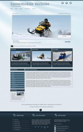 Virtue Snowmobile Website Template