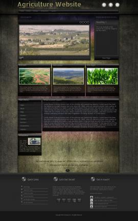 Ultraviolet Agriculture Website Template