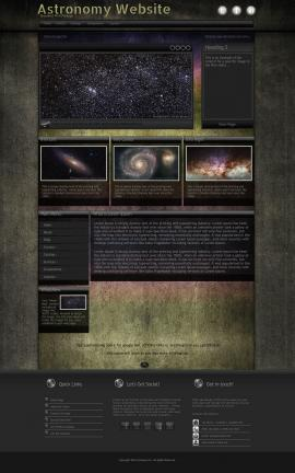 Ultraviolet Astronomy Website Template