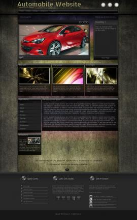 Ultraviolet Automobile Website Template