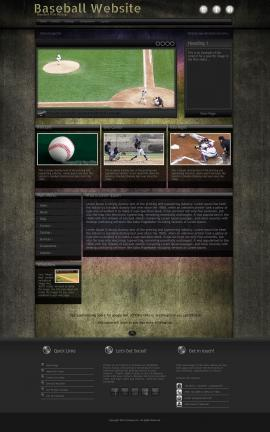 Ultraviolet Baseball Website Template