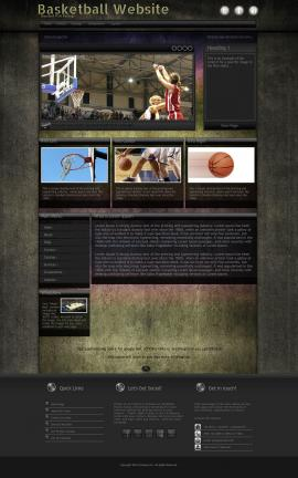 Ultraviolet Basketball Website Template