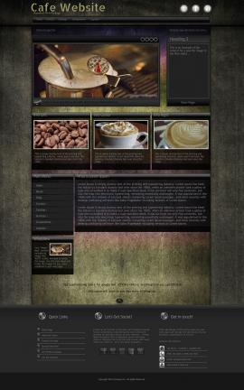 Ultraviolet Cafe Website Template