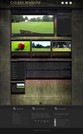 Ultraviolet Cricket Website Template