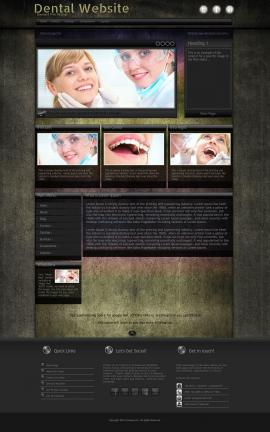 Ultraviolet Dental Website Template