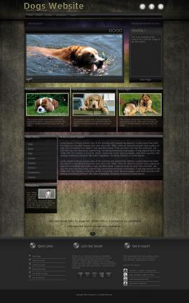 Ultraviolet Dogs Website Template