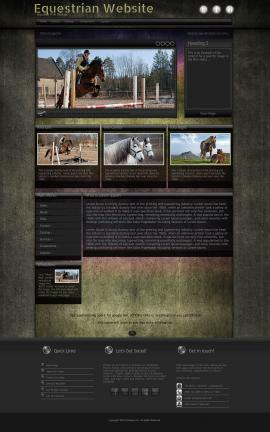 Ultraviolet Equestrian Website Template