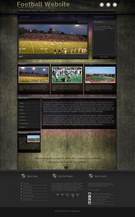Ultraviolet Football Website Template