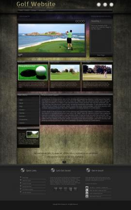 Ultraviolet Golf Website Template