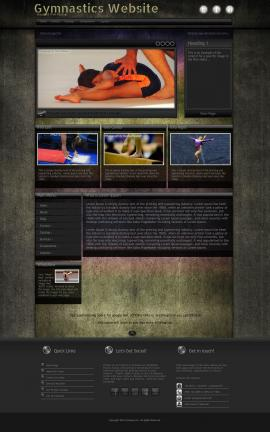 Ultraviolet Gymnastics Website Template