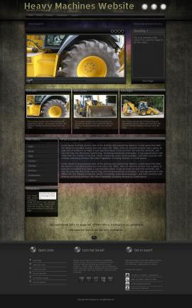 Ultraviolet Heavy-machines Website Template