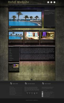 Ultraviolet Hotel Website Template