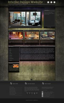 Ultraviolet Interior-design Website Template