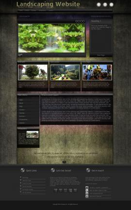 Ultraviolet Landscaping Website Template